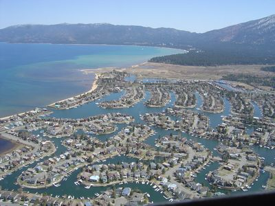 Arial View of Tahoe Keys Resort - Can you spot our Home on Tahoe Keys?