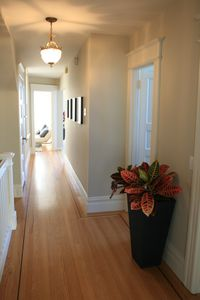 Beautiful Original inlay hardwood floor throughout