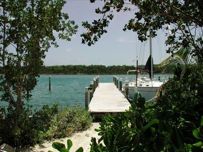 Driftaway private 50' dock with 7' depth on Sugar Loaf Channel (back of house)