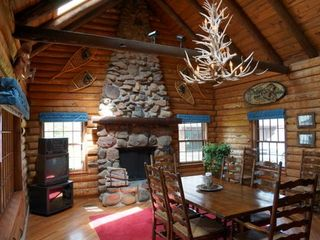 Minocqua cabin photo - Main Fireplace