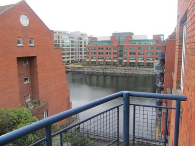 View over George's Dock Canal from Balcony