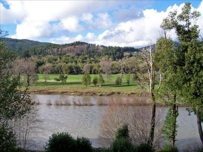 Brookings house rental - Breathtaking view of Chetco River taken from the deck during winter-2007