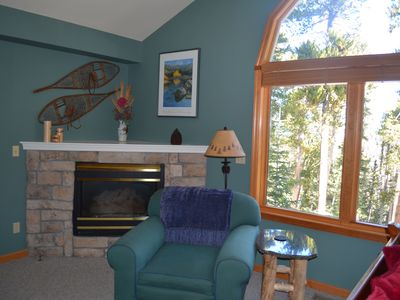 Gas fireplace in Master