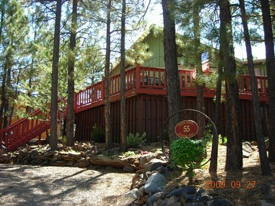 Flagstaff cabin rental - Casita Bonita view from Trailwinds Place