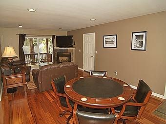 2nd floor family room and poker table.