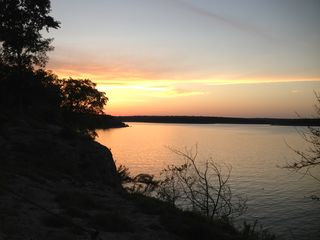 Austin cabin photo - Fishing at sunset Cedar Breaks Park, Lake Georgetown, TX.