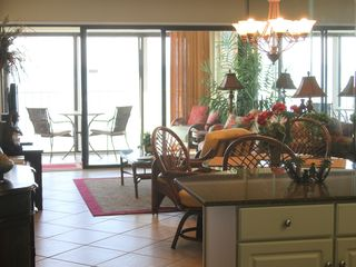 Gulf Shores condo photo - View of Living Room with Sunny Balcony