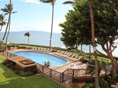 Our wonderful oceanside fresh water pool (photo taken from the lanai)