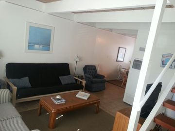 Aptos house rental - Charming living space with fold-out futon - for relaxing after fun in the sun!
