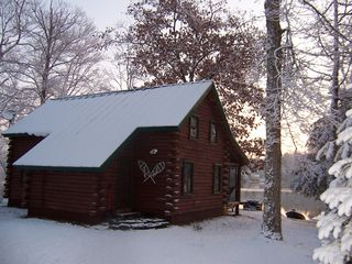 Lake Hortonia cabin photo - Winter Wonderland- BEST Rental on the Lake!