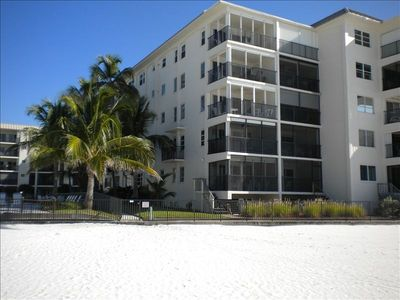 Fort Myers Beach condo rental - Beach view of unit.
