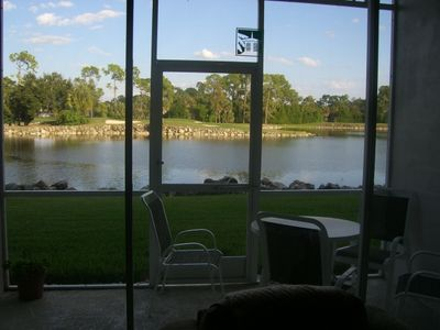 A view of Lake and Golf Course