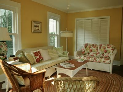 Enter the parlor through a French door from the Great Room for more living area