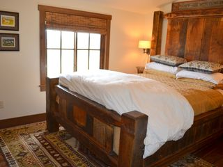Georgetown Lake house photo - Lakeview bedroom (queen). All bedrooms have blackout window shades: sleep in!