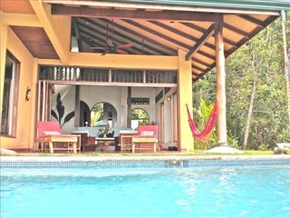 Uvita villa photo - Read a book, listen to music, relax in the hammock or cool of in the pool.