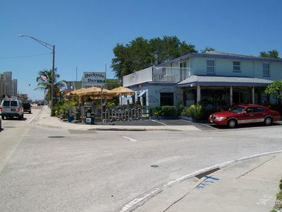 dockside daves restaurant four houses down! with other numerous bar and grills .
