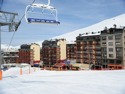image for Studio fully equipped ski to door ideal for skiers.