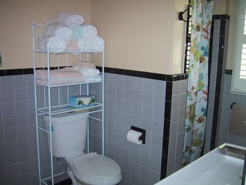 Nice large bathroom with walk in shower!