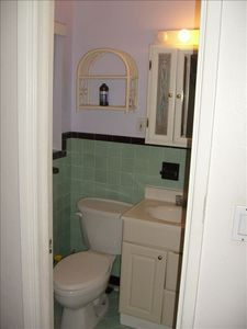 #4: Bathroom area has beautiful tilework!