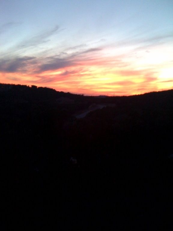 Sunset over the Texas Hill Country from our balcony