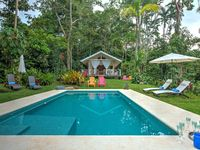300 m from the beach, ocean view luxury property with pool in the jungle.