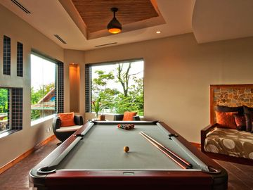 Billiard Room with unparalleled Ocean & Jungle views.