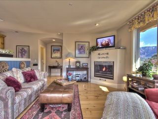 Sedona condo photo - Great Room With Fireplace, 37 Inch Flatscreen TV, Stereo & iPod dock
