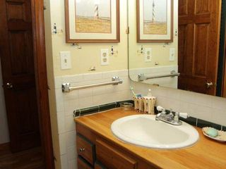 Orleans house photo - First floor bathroom with wood vanity and fantastic shower.