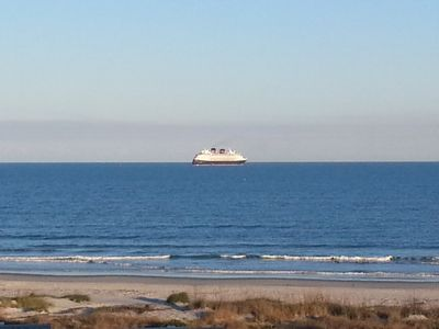 the Disney boat heading out to sea