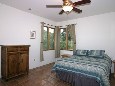 3rd BR w/ queen bed, mountain views, ceiling fan, beautiful wood door closet