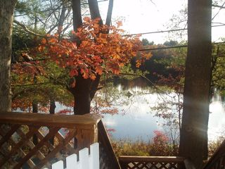 Fall Foliage View from the Deck - Chepachet cottage vacation rental photo