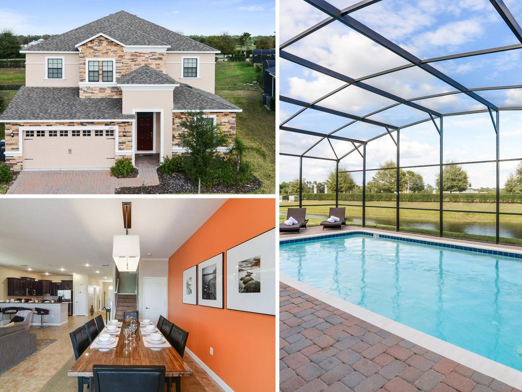 Luxury 7 bedroom 5 bathroom pool home with games room, gas BBQ and water view