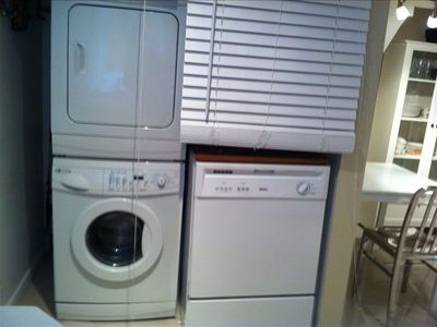 Private washer/dryer and dishwasher