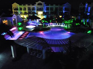 Providenciales - Provo condo photo - night time view of resort