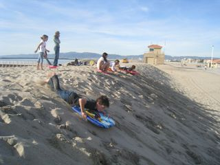 Marina del Rey condo photo - Sled down the sand berm in the winter