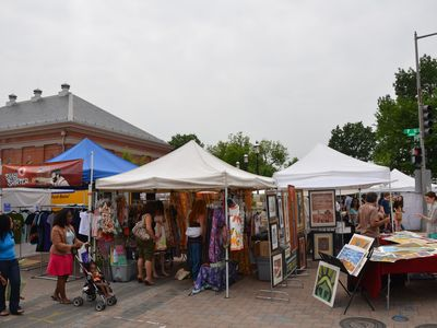 Every weekend Eastern Market comes alive with outdoor vendors