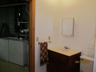 Swanville house photo - Lower Level bath with Washer/Dryer