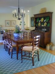Centerville house photo - Dining Room: antique farm table & Welsh Dresser. Bread board end-can seat 1-2