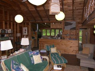 Lakeville cottage photo - Living Room -- Looking Across Bar to Kitchen