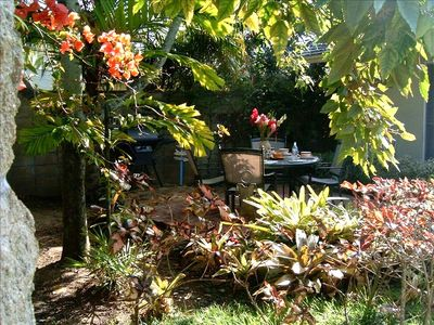Kailua cottage rental - Large Private Patio outside of Suite