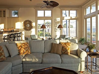 BEAUTIFUL Sunlit Living Area with Plush Comfortable Furniture