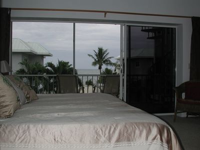 Master bedroom with balcony overlooking ocean