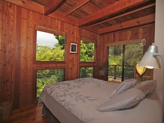 Captain Cook house photo - Bedroom with private lanai and peaceful view.