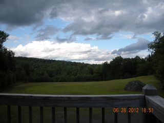 Pittsburg chalet photo - out on deck looking at great cloudy view