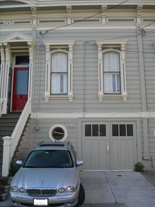 your own parking spot in your SF House which is on the historic register (1873)