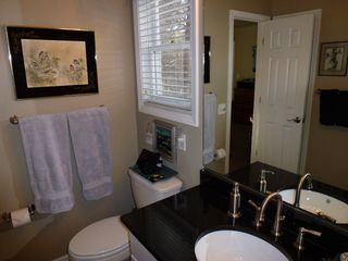 Durango cottage photo - Master bathroom with granite countertops, soaking tub and shower