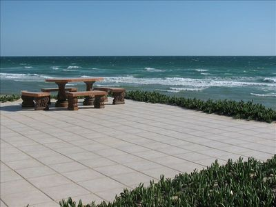 Huge beachfront patio