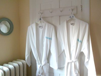 Each Bathroom has bathrobes