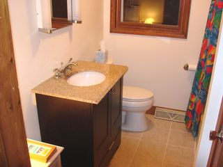 Newfound Lake house photo - first level bathroom Granite and Tile (updated 2010)
