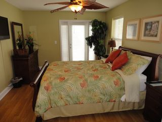 Crystal Beach house photo - Seawatch 2nd Floor Queen Bdrm w/ Private Bathroom and Deck Overlooking the Gulf